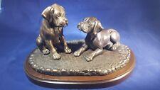 Boxer puppies Cold cast bronze sculpture by Dannyquest