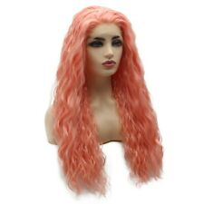 Loose Wavy Synthetic Lace Front PinklFashion Heat Resistant Wig