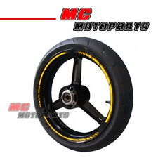"""Yellow Reflective Tape Wheel Sticker 17"""" For Honda Motorcycles Decal Bikes"""