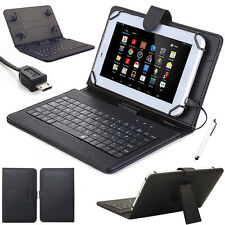 "US For Amazon Kindle Fire 7 2015 HD 7"" 8"" 10"" Tablet Keyboard Leather Cover Case"