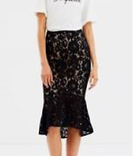 Staple the Label  Lace Skirt Black Size 14 RRP $89