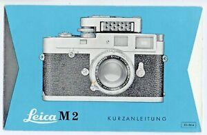 Leica M 2 Kurzanleitung ausklappbarer Flyer + Blitzlicht Leitzahlen doppelseitig