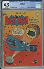 Batman #59 CGC 4.5 DC 1950 1st Deadshot! Suicide Squad! White Pages! L4 cm clean
