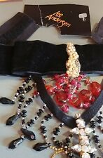 Victorian Trading Co Lee Anderson Pirates Treasure Velvet Choker Necklace 28E
