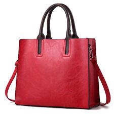 Rot Leder Damentasche Shopper Handtasche Beutel Schultertasche Umhängetasche