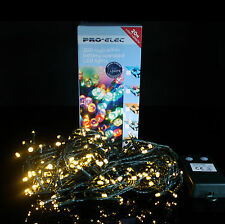 200 Warm White LED String Party Lights B/O with Timer 20m by PK Green