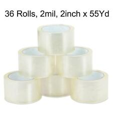 36 Rolls 2 Mil 165ft 2 X 55 Yards Clear Carton Sealing Packing Package Tape