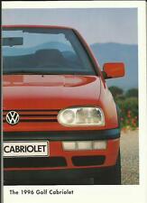 VW VOLKSWAGEN GOLF CABRIOLET 1.8 75bhp 1.8 90bhp AVANTEGARDE BROCHURE 1995 1996