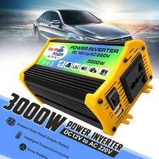 3000W DC12V A AC 220V POWER INVERTER CONVERTITORE SOLARE USB INVERTITORE AUTO
