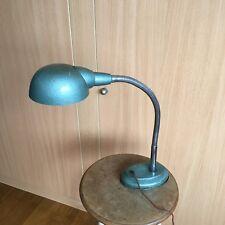 Lampe Industrielle Années 50 Vert Martelé Bureau Metal