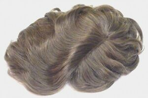 "MENS MONOFILAMENT HAND TIED MALE WIG TOUPEE 6"" X 9"" BASE HAIRPIECE LAYER LOOK"