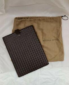 Bottega Veneta  Intrecciato Brown Leather Lined iPad Sleeve