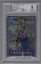 1996-97 Stadium Club Patrick Ewing & Alonzo Mourning Class Acts Refractor BGS 9