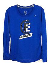 Nike Basketball Graphics Dri Fit Long Sleeve Blue Shirt Polyester Mens Small S