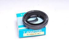 Canon FD para montar Adaptador T Para telescopio, microscopio, película copiadora diapositiva & etc.