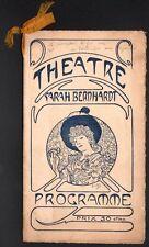 Mucha. Programme pour la Tosca. Théâtre Sarah Bernhardt vers 1900