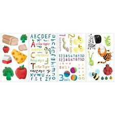 115 Education Wall Stickers Decals Removable Vinyl Appliques - Numbers Letters