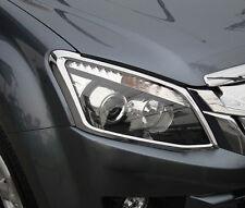 CHROME HEAD LIGHT LAMP COVER TRIM FOR ALL NEW ISUZU D-MAX 2012-2014 V.4