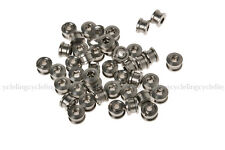 RockBros Titanium Crankset Chainring Bolts Nuts M8 for Fixed Gear Track 50 pairs