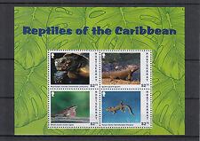 Montserrat 2013 Mnh Reptiles of Caribbean 4v M/S Tortoise Lizards Iguana Stamps
