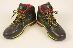 Timberland Men's Mid Hiking Boots Black/Green/Yellow/Red 52058 1722 NEW Size 8.5