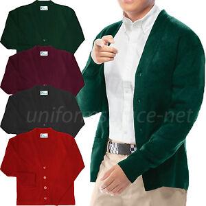 Cardigan Sweater Classroom Boys, Youth V-Neck Cardigan Sweaters School Uniforms