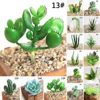 Artificial Succulent Faux Cactus Plastic Purple Plant Home Garden Decor Gift New
