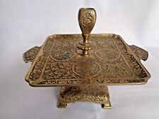 ANTIQUE 19TH BRASS PERSIAN STYLE  CANDLESTICK.