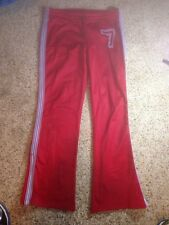 HOLLISTER WOMENS MEDIUM ATHLETIC SWEAT PANTS  LOUNGE GYM WORKOUT RED ked