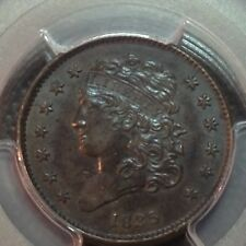 Pcgs Ms-62 1835 Half Cent Tough Date Last Year Nice Type Coin