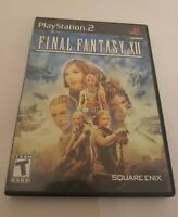 Final Fantasy XII 12 Case and Box PS2 Playstation 2