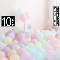 "Pack of 100 10"" Macaron Candy Pastel Latex Balloon Wedding Party Decor Birthday"