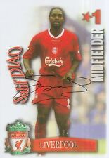 SALIF DIAO HAND SIGNED LIVERPOOL MAGAZINE PHOTO.