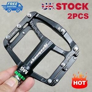 2x Mountain Bike Flat Pedal MTB Accessories Bicycle Clip Board Magnesium Alloy
