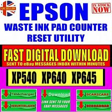 EPSON XP540 XP640 XP645 PRINTER WASTE INK PAD COUNTER RESET SOFTWARE DOWNLOAD
