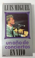 Video VHS - LUIS MIGUEL - Un Ano de Conciertos Mexico - Very Good (VG) WORLDWIDE