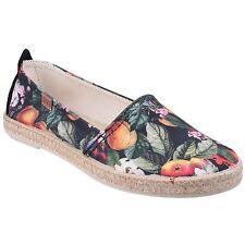 Riva Clarissa Slip On Canvas Shoes Black Floral Uk 6 Eur 39 EM25 17