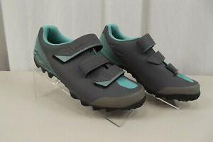 Shimano ME2 Women Cycling Bike Shoes Athletic Gray Teal Size 9.5 US SH - ME200