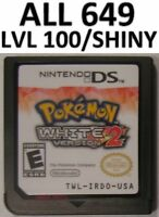 Pokemon White Version 2 All 649 Tepig Shiny DS Lite DSi 3DS XL Game Unlocked