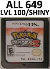 Pokemon White Version 2 All 649 Tepig Shiny DS Lite DSi 3DS XL Game Unlocked