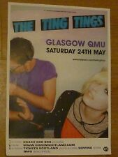 The Ting Tings - Glasgow may 2008 tour concert gig poster