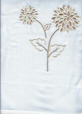 CREAM WHITE GOLD DOUBLE BED DUVET SET  EMBROIDERED