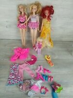 Lot Of 4 Barbie Dolls with Clothes/Accessories 2012,2013