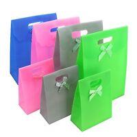 Geschenktüte Geschenktaschen mit Klettverschluss 12er Pack Neu versch. Farben