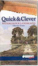 CHARLES EVANS QUICK & CLEVER WATERCOLOUR LANDSCAPES VHS VIDEO