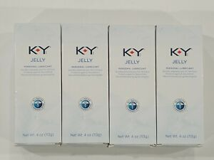 4x KY Jelly Personal Lubricant, 4 oz. Free Shipping!! New Exp 9/2021