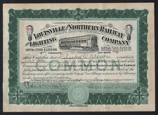1907 Indiana: Louisville and Northern Railway and Lighting Co. - Samuel Insull