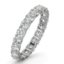 Band 950 Platinum Size 7 8 6 2.00 Ct Natural Diamond New Design Women's Eternity