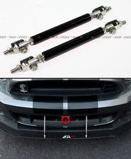 Black Adjustable Front Bumper Lip Splitter Strut Rod Tie Support Bar For Pontiac