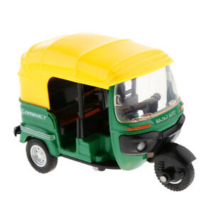 Maßstab 1:14 Alloy Diecast Indian Dreirad Modell Electric Pull Back